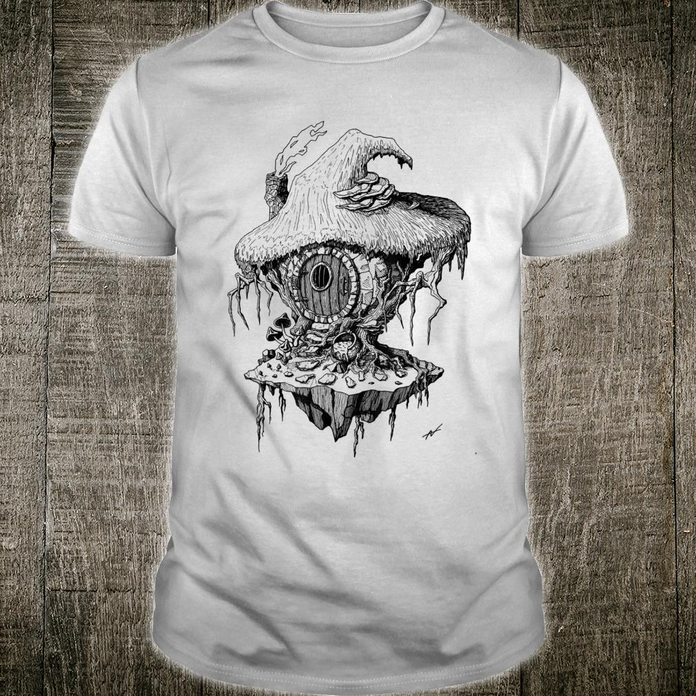 Witch's Hut Hovel Castle Medieval Surreal Series Inkomancer Shirt