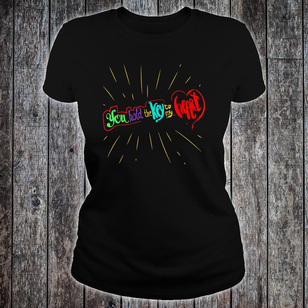 You Hold The Key To My Heart Valentines Day Couples Shirt ladies tee