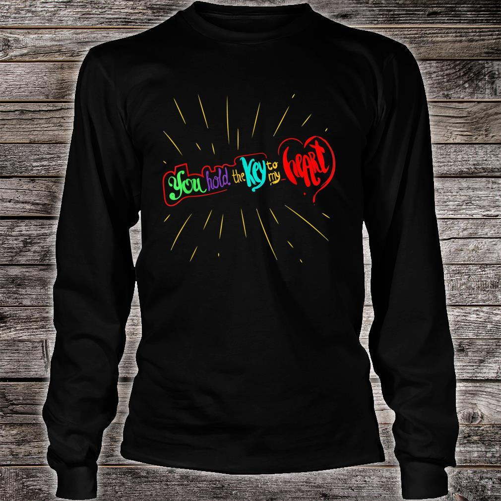 You Hold The Key To My Heart Valentines Day Couples Shirt long sleeved