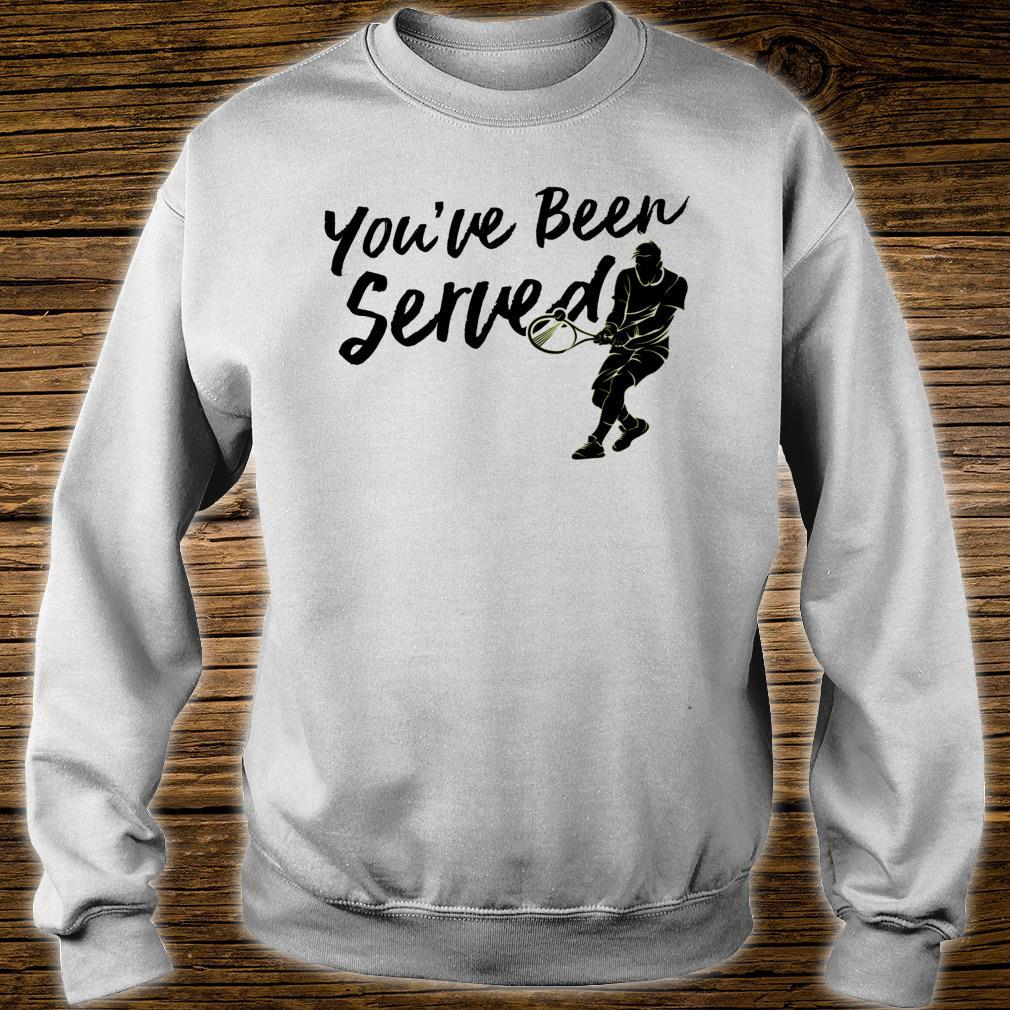 You've Been Served Tennis Player Christmas Shirt sweater